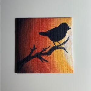 sunset bird painting